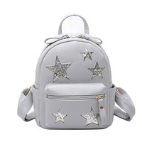 Fashion Women backpack  Pu backpack female of the small fresh five-pointed