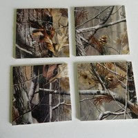 Realtree Camo Print Tile Coasters on Luulla