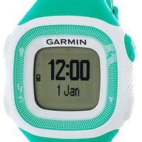 Garmin 'Forerunner 15' Fitness Watch, 46mm - Turquoise/ White