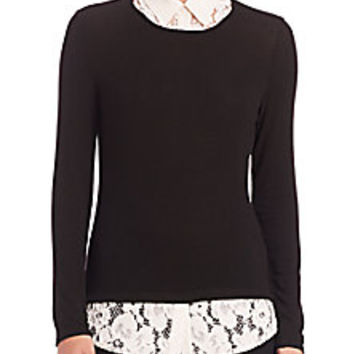 Bailey 44 - Oz Layered Long-Sleeve Top - Saks Fifth Avenue Mobile