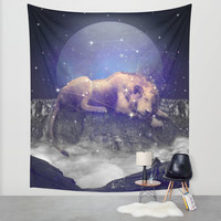 Under the Stars III (Leo) Wall Tapestry by Soaring Anchor Designs