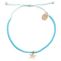 Gold 3D Bitty Starfish Seafoam Anklet