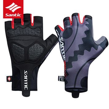 Santic Men Cycling Gloves Half Finger Outdoor Sports Summer Tour De France Racing Downhill Bike Bicycle Gloves Luvas Ciclismo