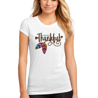 Thankful graphic t-shirt available in size s, med, large, and Xl for women funny graphic shirt women sassy gift tumblr instagram