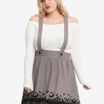 The Nightmare Before Christmas Simply Meant To Be Suspender Skirt Plus Size