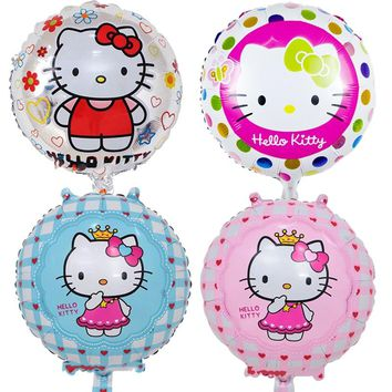 5pcs/lot 18 inch Hello Kitty Foil Balloons Baby inflatable Globos Toy Birthday Wedding Party Decoration KT Cat Helium Balloon