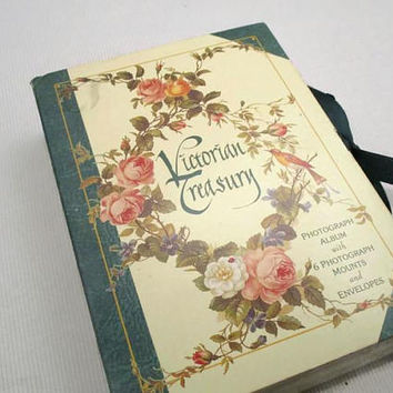 Victorian Treasury Photo Album, Photograph Mount Note Card Set Wildflower Craft Cards