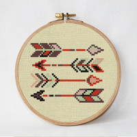 Arrows cross stitch pattern, Easy cross stitch, Modern cross stitch pattern, counted cross stitch