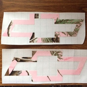 Pink Camo Chevy Decals, Chevy decal, decal, car decal