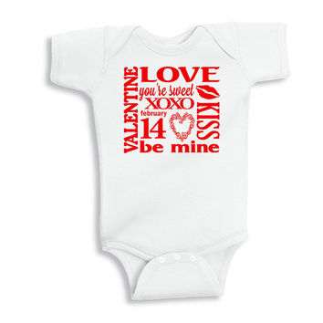 Be Mine Valentine Baby Shirt - Valentine's Day Bodysuit for Baby - Baby Valentine's Day Shirt