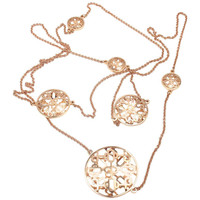 Hermes Chaine d'Ancre Passerelle Rose Gold Long Necklace
