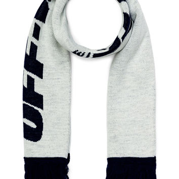 OFF-WHITE Wing Off Scarf in White & Blue | FWRD