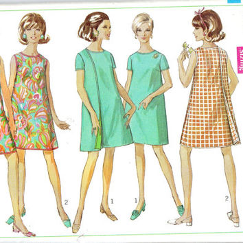 Simplicity Vintage Retro Sewing Pattern 7484 Wrap Around Dress 1960s Fashion