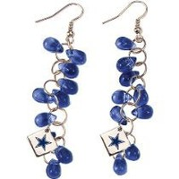 My Associates Store - Touch By Alyssa Milano Dallas Cowboys Glass Bead Earring With Metal Logo