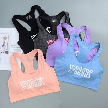 Women Cotton Crop Top Cropped Padded Bra Tank Top Vest Fitness Tanks Workout Bras