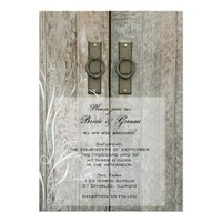 Double Barn Doors Country Wedding Invitation from Zazzle.com