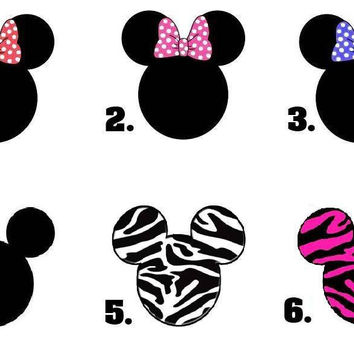 Waterslide Nail Decals Art Set of 20 - Mickey Minnie Mouse Ears - Choose Design