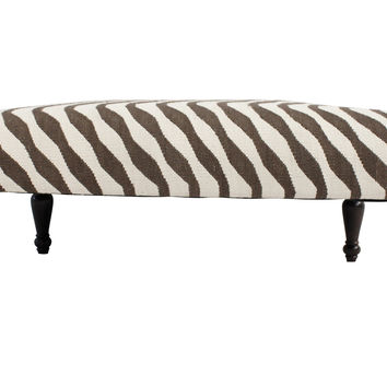 Sybille Striped Kilim Bench design by NuLoom
