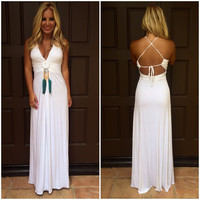 Kuonrada Maxi Dress By SKY - V723RX - IVORY
