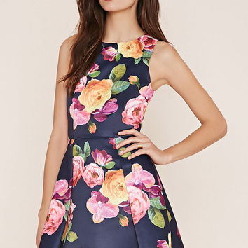 Contemporary Floral Dress | Forever 21 - 2000187247