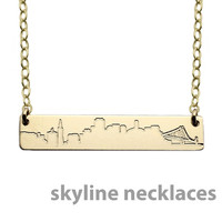 Skyline Nameplate Necklace