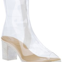Mm6 By Maison Martin Margiela Transparent Ankle Boot -  - Farfetch.com
