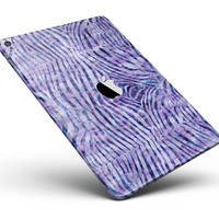 """Purple Watercolor Zebra Pattern Full Body Skin for the iPad Pro (12.9"""" or 9.7"""" available)"""