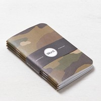 AEO Women's Word. Printed Notebook (Camo Print)