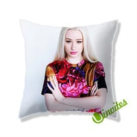 Iggy Azalea Flowers Square Pillow Cover