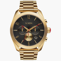 Nixon Bullet Chrono Watch Black/Gold One Size For Men 25574077401