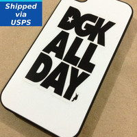 DGk iPhone 4 Case, I Love Haters, DGk ALL DAY, Stevie Williams, Dirty Ghetto Kids, DGk skateboards, Supra, G-Shock, 9five Eyewear, Gold, Gri