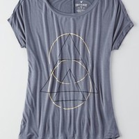 AEO Women's Soft & Sexy Shapes Jegging T-shirt (Dark Graphite)