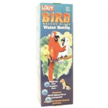 Lixit Pet Bird Deluxe Glass Water Bottle 32 ounce