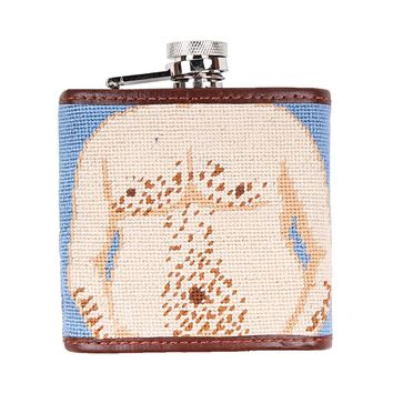 Dad Bod Needlepoint Flask by Smathers & Branson