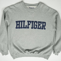 Vintage Tommy Hilfiger Athletic Grey 90s Crewneck Sweatshirt