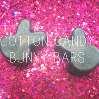 Cotton Candy Bunny Soap Bars, Organic, Vegan, Kids, Cruelty Free, Sparkle