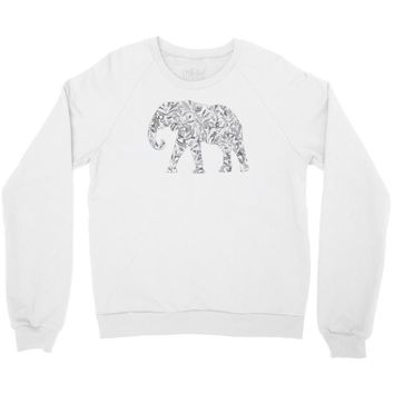 elephant filled pattern cool Crewneck Sweatshirt