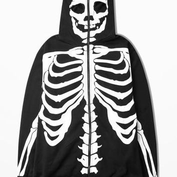 Ulzzang Tide Hoodies For Man And Women Justin Bieber Men Hoodie 3d Skull Hoodies Zip Fashion Skeleton Sweatshirt Men Zipper Kpop