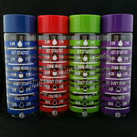FREE SHIPPING ~ 30 Ounce Plastic Water Bottle with Screw Top - Keep Track of Your Daily Water Intake ~ FREE Personalization