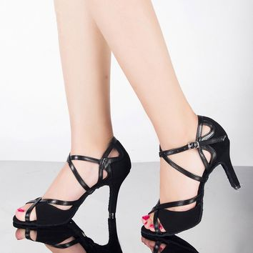 High Heels Salsa Sandals Tango Latin Dance Shoes Ballroom Ankle Strap Pumps