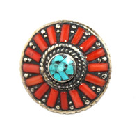 Round Coral ring