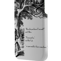Best 3D Full Wrap Phone Case - Hard (PC) Cover with Alice and Cheshire Cat Design