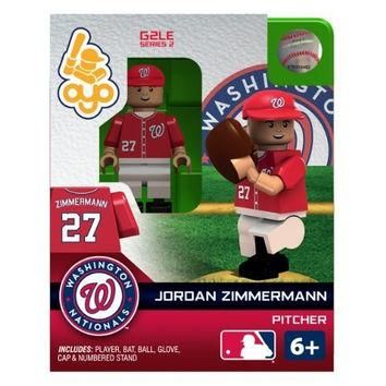 OYO Baseball MLB Generation 2 Building Brick Minifigure Jordan Zimmermann [Washington