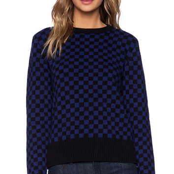 Marc by Marc Jacobs Checkerboard Sweater in Blue