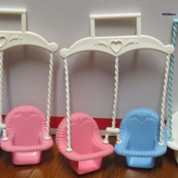 Vintage Fisher Price Twin/Single Baby Swing Dream Doll House Toy