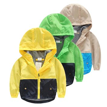 Hooded Children Windbreaker Baby Spring jackets for Boys Jacket Coat Girls Clothes Kids Outerwear Minnie Costume Toddler Blazer