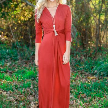 The Story of Us Maxi Dress-Rust