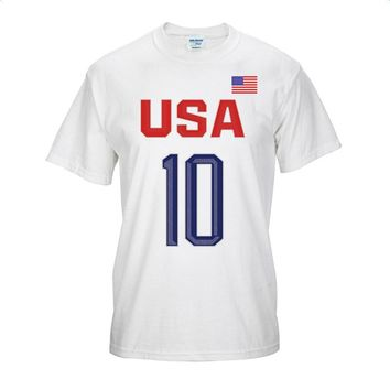 USA Team Basketball Jersey Kyrie Irving Number 10 Breathable Sports Training Tee Shirt