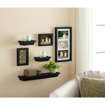 Mainstays 6-Piece Shelf and Frame Set, Black - Walmart.com