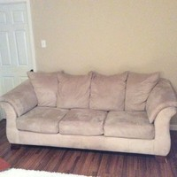Simmons Cream Microfiber Sofa